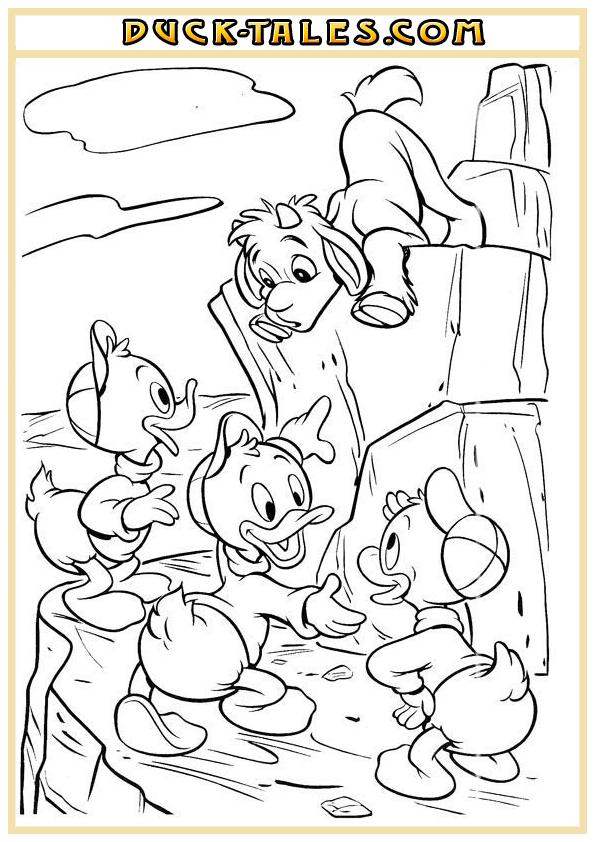 Раскраски из мультфильма «Утиные Истории» («Duck Tales ...